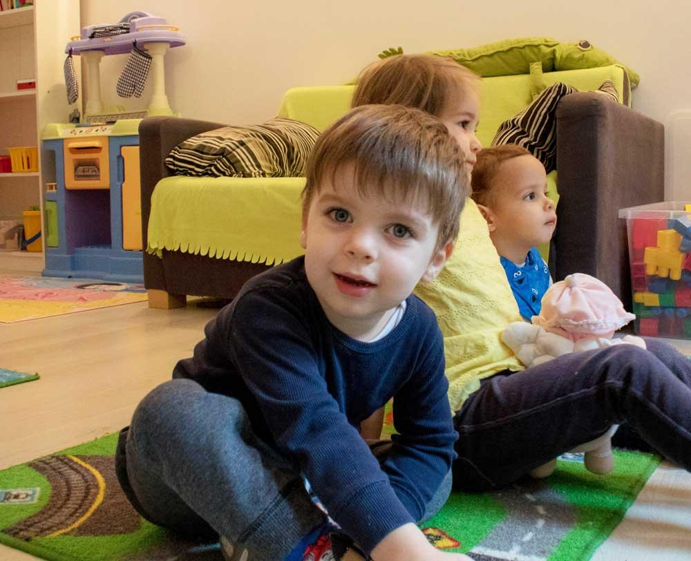 Gyerekek a családi napköziben